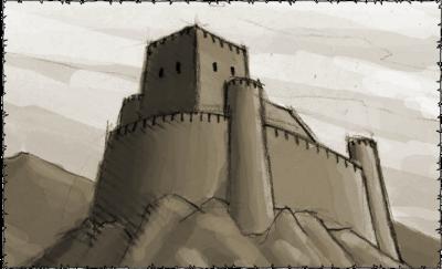 Die alte Festung von Teutringen in Nordek