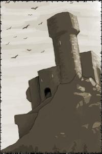 Die Burg des Baels von Tannhöh in Aenstein
